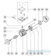 Электро двигатель насоса ATLAS 7.4 кВт MT106077