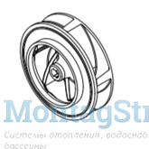 Рабочее колесо (крыльчатка) насоса NEW BCC 2,2кВт (3CV)