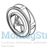 Рабочее колесо (крыльчатка) насоса ATLAS 3 кВт (бронза) HD096050