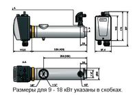 Электрический нагреватель для бассейна PAHLEN сталь 9 кВт с термостатом и датчиком потока 13981409