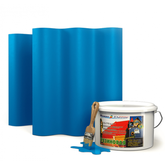 """Резиновая краска Super Decor цвет №17 """"Небесный"""" 12 кг"""