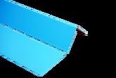 Метал. лист с ПВХ напыл., 2 х 1 м темно-голубой 2100063